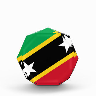Low Cost! Saint Kitts and Nevis Flag Acrylic Award