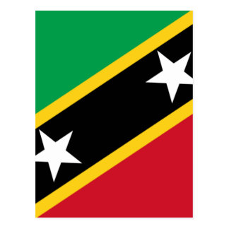 Low Cost! Saint Kitts and Nevis Flag Postcard