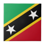 """Low Cost! Saint Kitts and Nevis Flag Tile<br><div class=""""desc"""">Classic Saint Kitts and Nevis flag design available on many products in our store! Show your Saint Kitts and Nevis pride with these special items or buy something for that special Saint Kitts and Nevis native in your life! Check out our store for more items! Have a design request? We...</div>"""