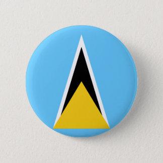 Low Cost! Saint Lucia Flag Button