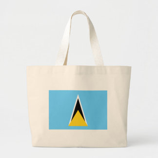 Low Cost! Saint Lucia Flag Large Tote Bag