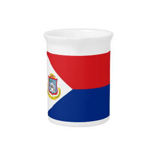 Low Cost! Saint Martin Flag Drink Pitcher
