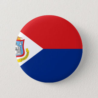 Low Cost! Saint Martin Flag Pinback Button