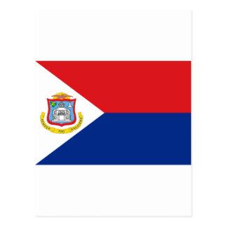 Low Cost! Saint Martin Flag Postcard