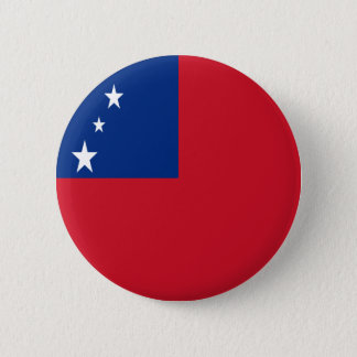 Low Cost! Samoa Flag Pinback Button