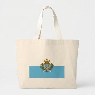 Low Cost! San Marino Flag Large Tote Bag