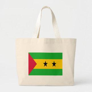 Low Cost! São Tomé and Príncipe Flag Large Tote Bag