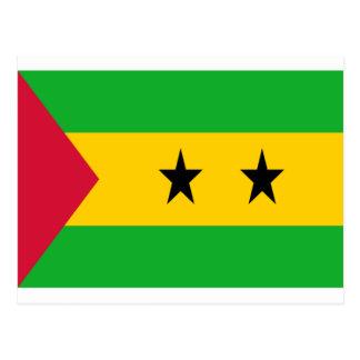 Low Cost! São Tomé and Príncipe Flag Postcard
