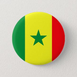 Low Cost! Senegal Flag Pinback Button