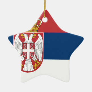 Low Cost! Serbia Flag Ceramic Ornament