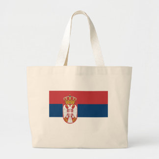 Low Cost! Serbia Flag Large Tote Bag