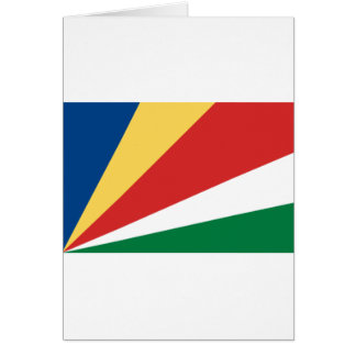 Low Cost! Seychelles Flag Card