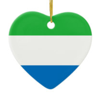 Low Cost! Sierra Leone Flag Ceramic Ornament