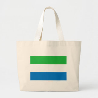 Low Cost! Sierra Leone Flag Large Tote Bag