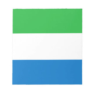 Low Cost! Sierra Leone Flag Notepad