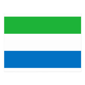 Low Cost! Sierra Leone Flag Postcard
