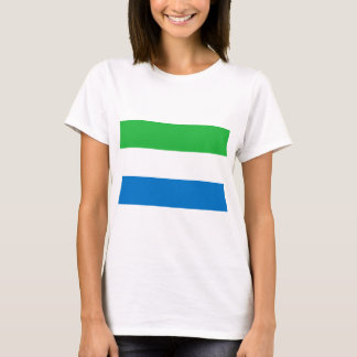 Low Cost! Sierra Leone Flag T-Shirt