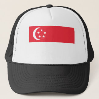 Low Cost! Singapore Flag Trucker Hat