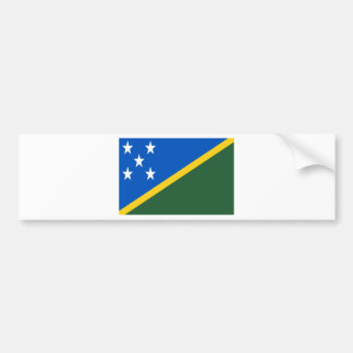 Low Cost! Solomon Islands Flag Bumper Sticker