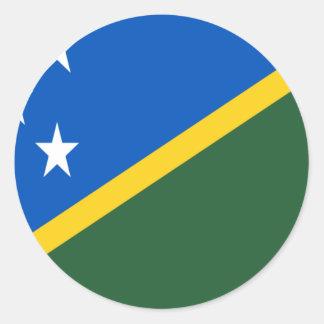 Low Cost! Solomon Islands Flag Classic Round Sticker