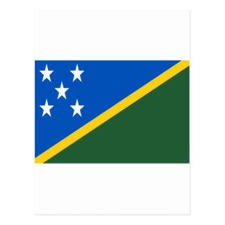 Low Cost! Solomon Islands Flag Postcard