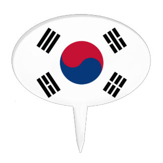 Low Cost! South Korea Flag Cake Topper