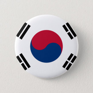 Low Cost! South Korea Flag Pinback Button