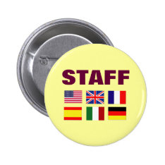 Low Cost Staff Badges In Bulk For Festivals Events Pinback Button at Zazzle