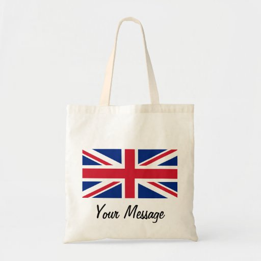 Low Cost Union Jack Flag Canvas Crafts & Shopping Budget Tote Bag