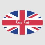 Low Cost Union Jack Flag Name Gift Tag Bookplate Sticker