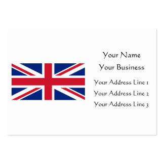 Low Cost Union Jack Flag of Great Britain Bookmark Business Card Template