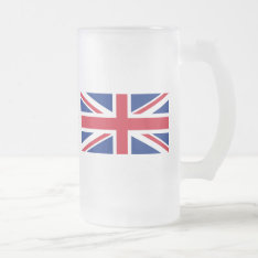 Low Cost Union Jack Flag Of Great Britain Glass Frosted Glass Beer Mug at Zazzle