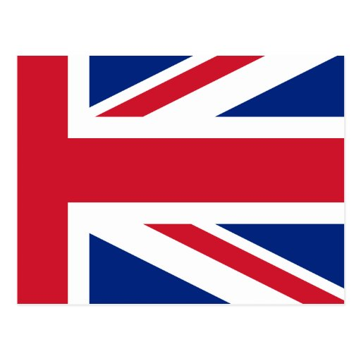Low Cost Union Jack Flag of Great Britain Postcard