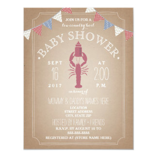 Low Country Boil Cardstock Baby Shower - Bottle Card