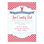 Low Country Boil, Crawfish, Crab BBQ Invitation at Zazzle