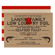 Low Country Boil Invitation - Shrimp Boil