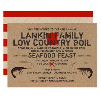 Low Country Boil Invitation - Shrimp Boil