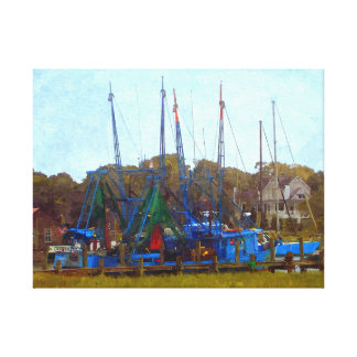 Low Country Shrimpers Canvas Print
