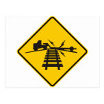 Low Crossing Highway Sign Postcard