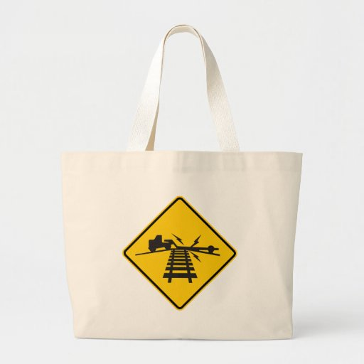 Low Crossing Highway Sign Tote Bags