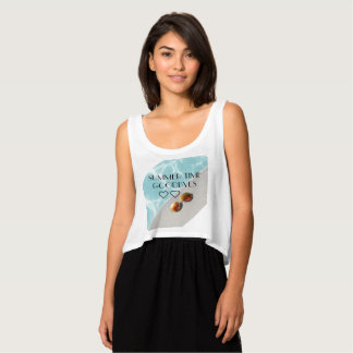 Low-cut unforgettable summer memory of 2017 tank top