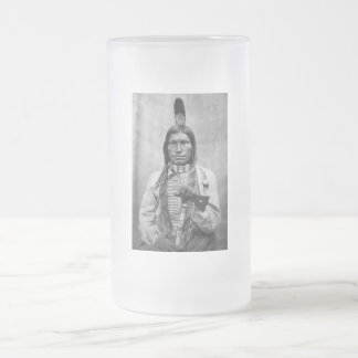 Low Dog - Native American vintage photo Frosted Glass Beer Mug