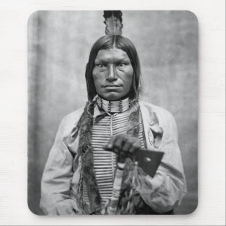 Low Dog - Native American vintage photo Mouse Pad