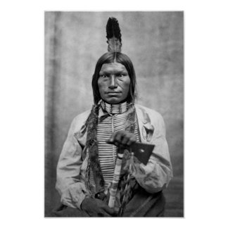 Low Dog - Native American vintage photo Poster