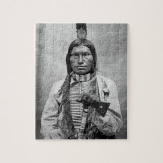 Low Dog - Native American vintage photo Jigsaw Puzzles