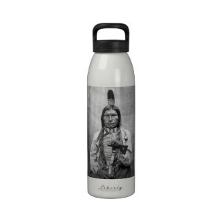 Low Dog - Native American vintage photo Water Bottles