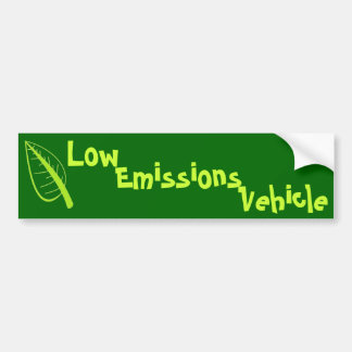 Low Emissions Vehicle Bumper Sticker