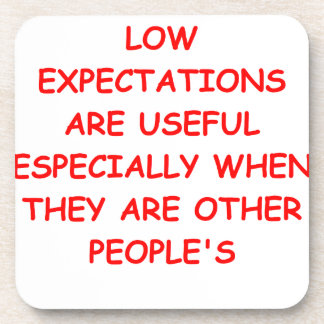 low expectations coasters