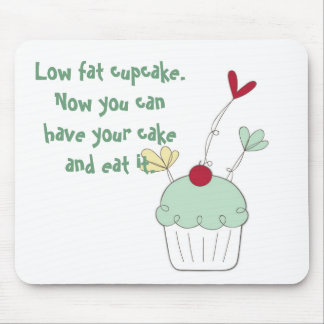 Low fat cherry cupcake Mouse mat