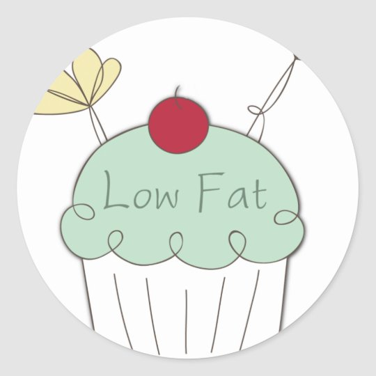 low fat cupcake stickers